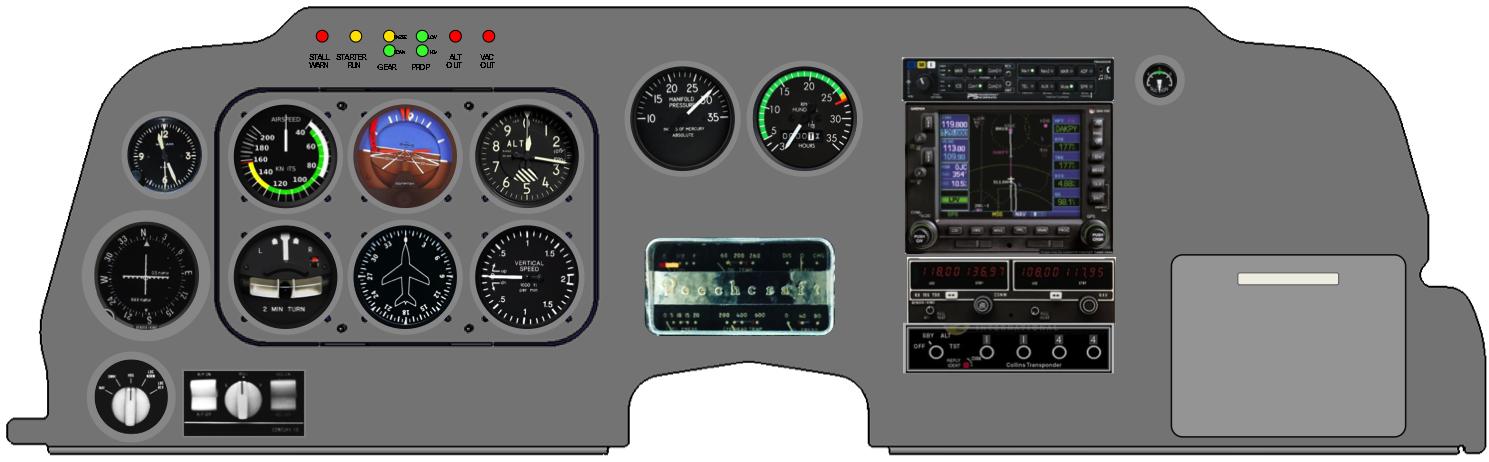 CSOBeech - McPeck Aviation: Bonanza Panel Mod, Anti-Wear Cowl Flap