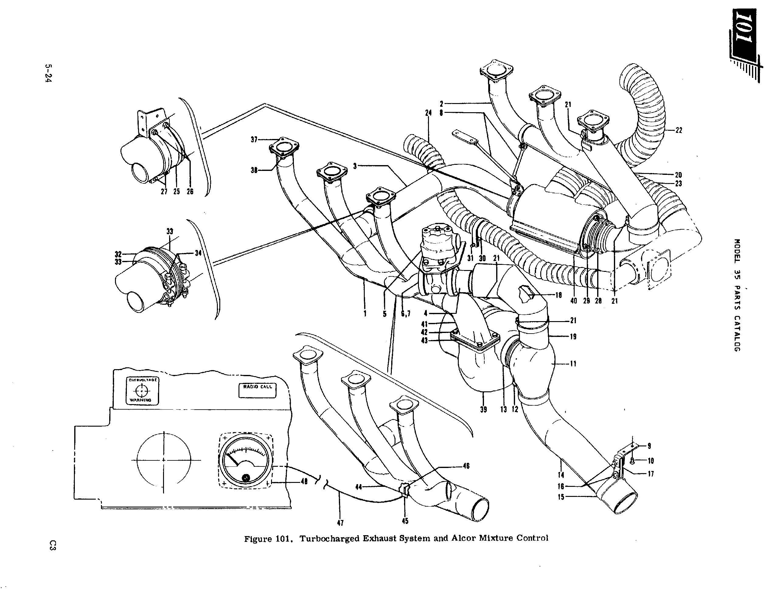 CSOBeech     Beechcraft    Bonanza Turbo Exhaust Watch Out